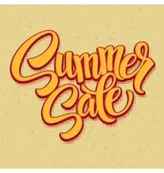 Summer sale retro pop art style vector