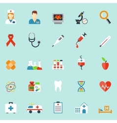 Medicine and health care icons in flat style vector