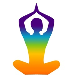 Yoga color vector