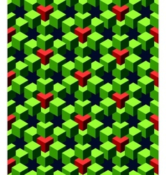 Abstract green cubes vector