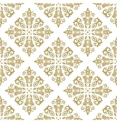 Damask seamless pattern orient background white vector