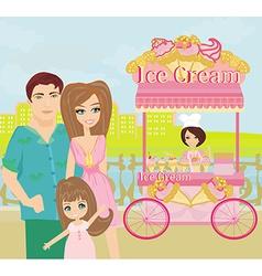 Ice cream mobile shop vector