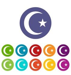 Islam flat symbol vector