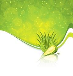 Avocado and aloe vera vector