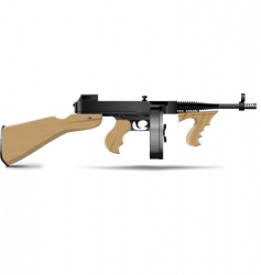 Tommy gun vector