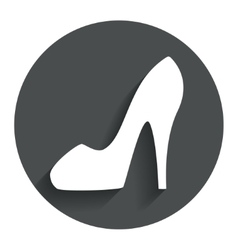 Womens shoe sign icon high heels shoe vector