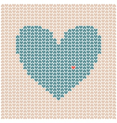 Heart made of little hearts vector