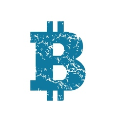 Grunge bitcoin icon vector