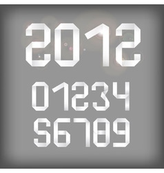 2012 and other numbers vector