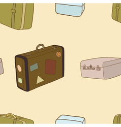 Seamless of travel bag vector