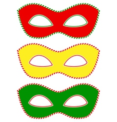 Masks traffic light vector