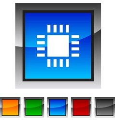 Cpu icons vector