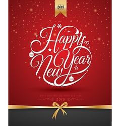 Happy new year card gold vector