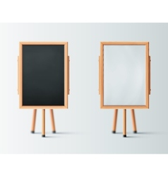 Two wooden easel vector