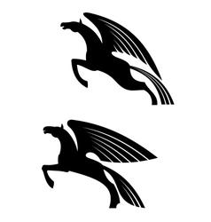 Fantasy winged horses vector