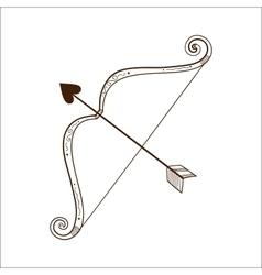 Bow with love arrow vector