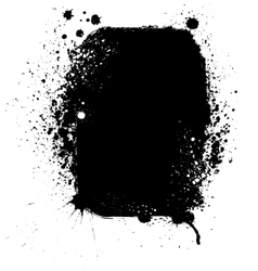 Ink blots frame vector