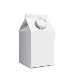Milk carton with screw cap vector