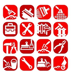 Color construction and repair icons set vector