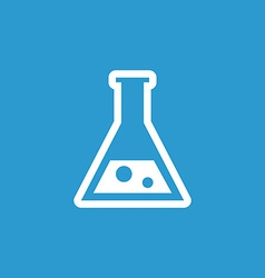 Laboratory icon white on the blue background vector