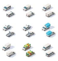Isometric vans set vector