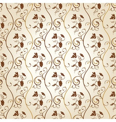 Seamless wallpaper background grapes decor vintage vector