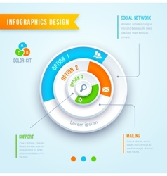 Circle graph infographics vector