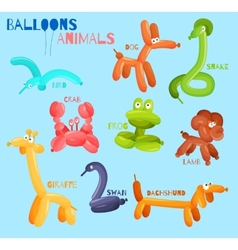 Balloon animals isolated vector