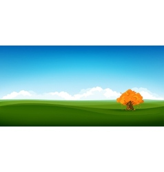 Field landscape vector
