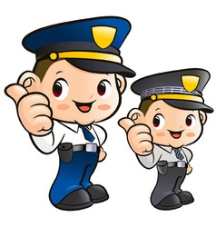 Friendly police officer character vector