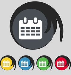 Calendar date or event reminder icon sign symbol vector