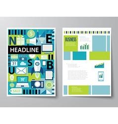 Headline startup set of magazine cover vector