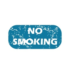 Grunge no smoking icon vector