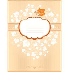 Pumpkin card vector