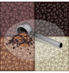 Filter for coffee machine with coffee bean vector