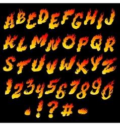 Fire font vector