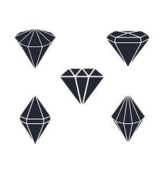 Diamond gemstone vector