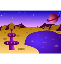 Cartoon planet landscape vector