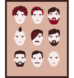 Guy barber kit vector