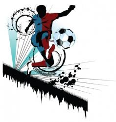 Soccer traced vector
