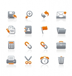 Interface web icons vector