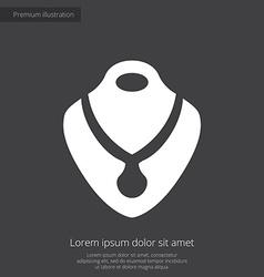Necklace premium icon white on dark background vector