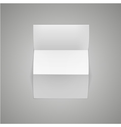 White blank paper page sheet with corner curl vector