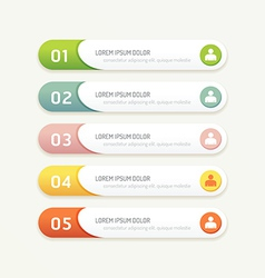 Progress banners with colorful tags vector