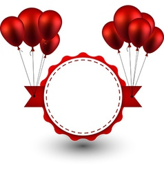 Award red ribbon background with balloons vector