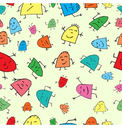 Seamless background merry children vector