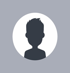 Unknown male silhouette vector