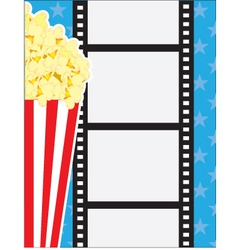 Film and popcorn vector