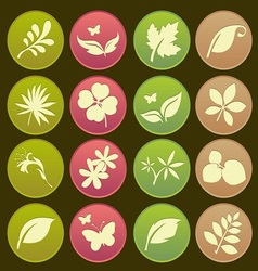 Natural leafs icon gradient style vector