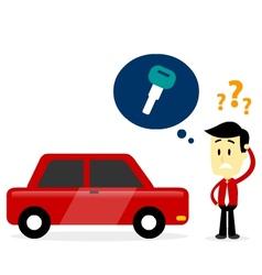 Man missing a car key vector